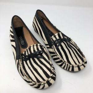 Van Eli Women's Zebra Calf Hair Loafers